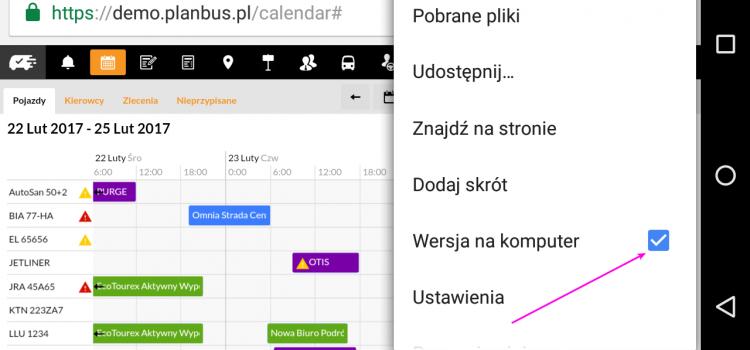 Mobilna wersja przeglądarki Google Chrome na telefonie