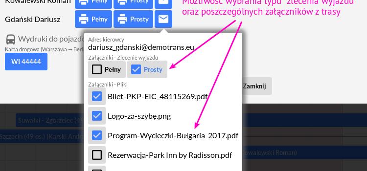 Pliki załączników w trasie, czyli organizacja transportu po nowemu!