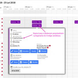 Kopiowanie tras liniowych prosto w kalendarzu