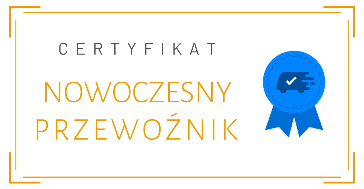 Certyfikat Nowoczesny Przewoźnik