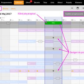 Szybka zmiana lub dodanie pojazdu/kierowcy do trasy z widoku Kalendarza!